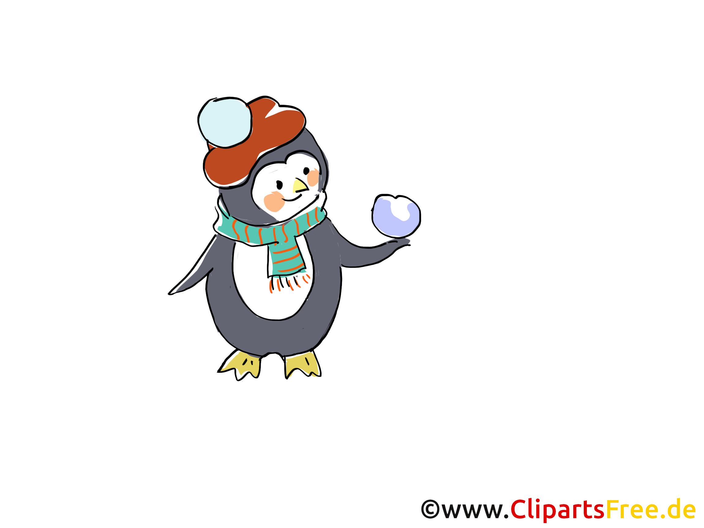 Pinguin Cartoon, Bild, Zeichnung