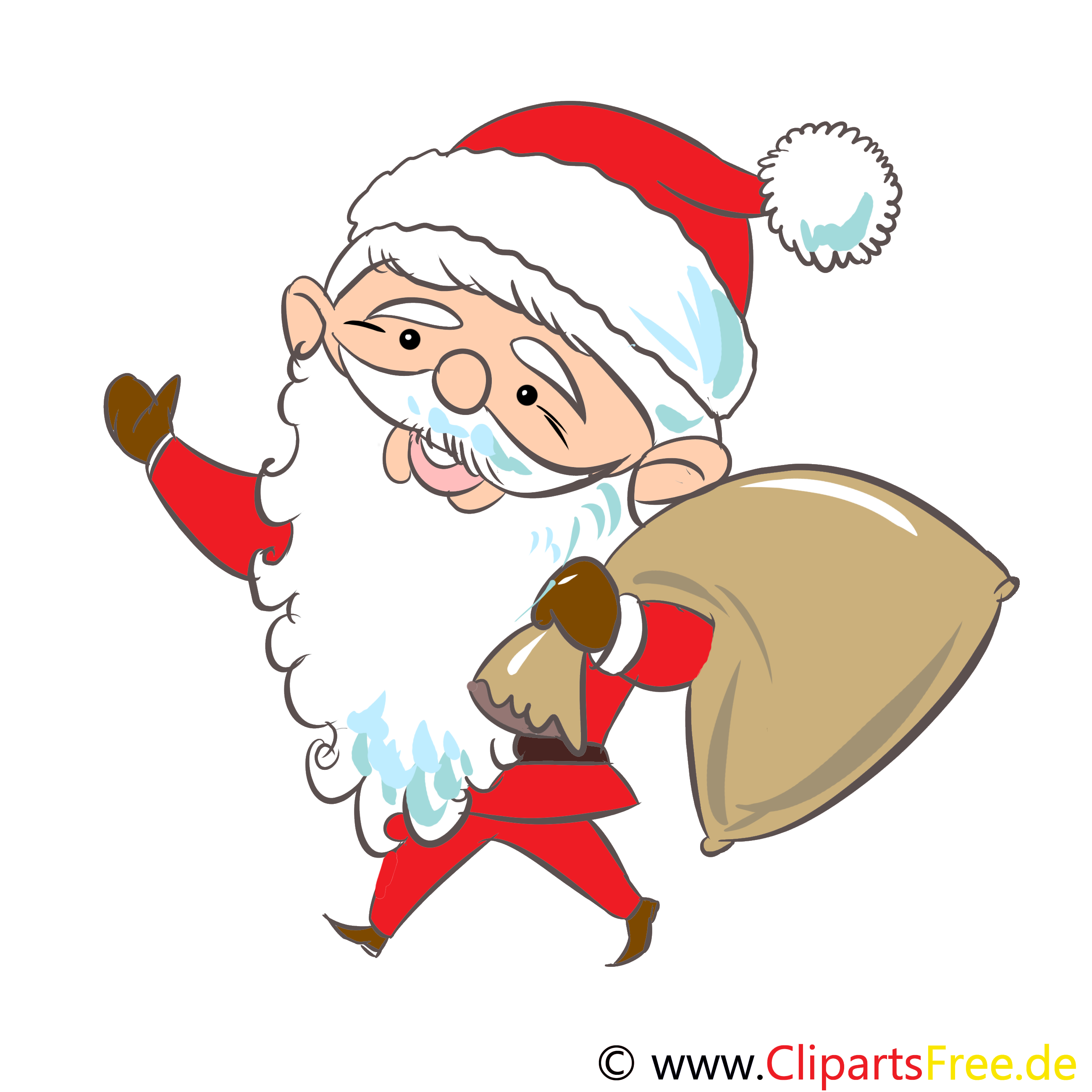 Sankt Nikolaus Bild, Clipart, Grafik, Illustration