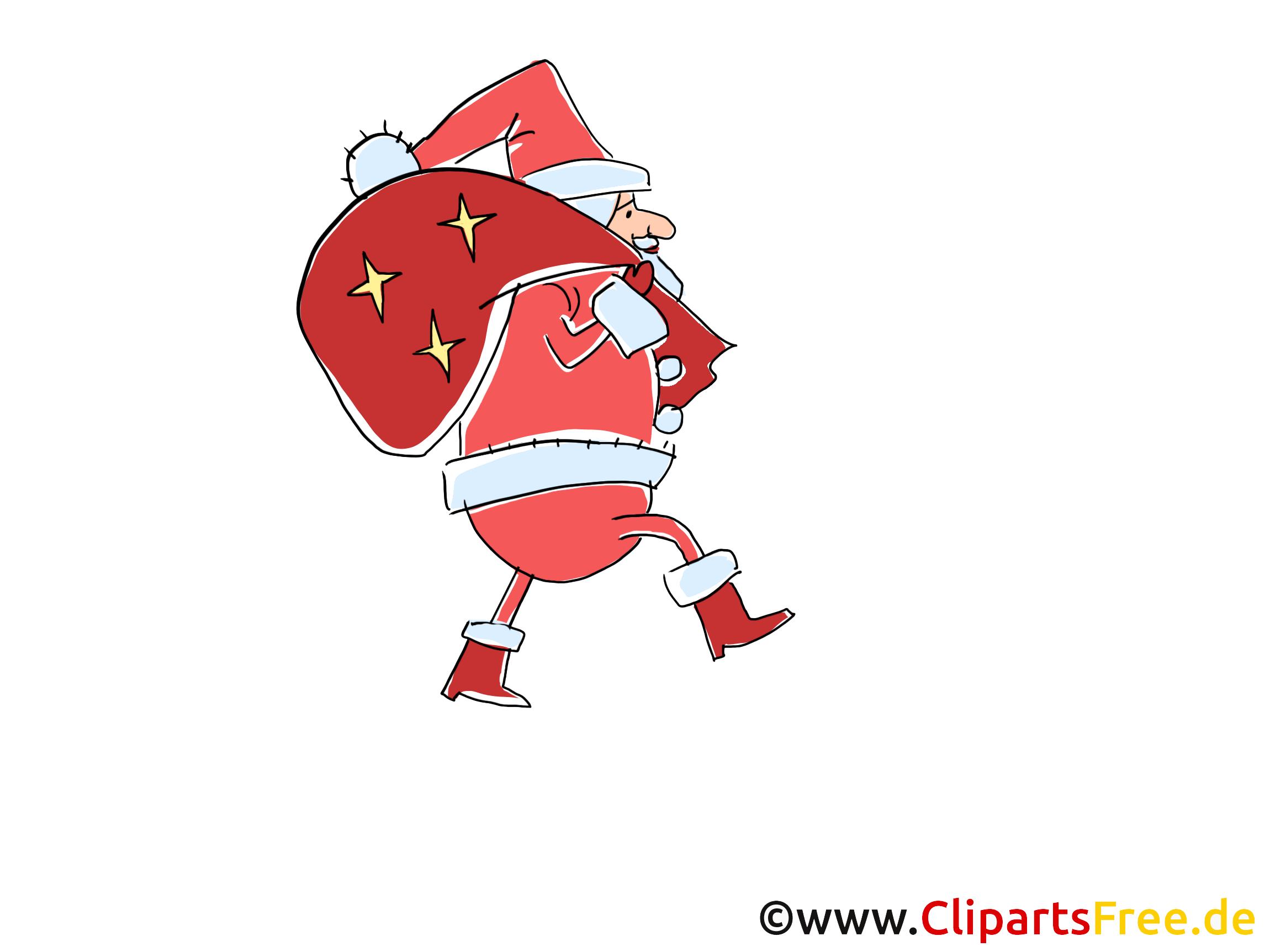 Santa Claus eine schoene Bescherung Cartoon, Bild
