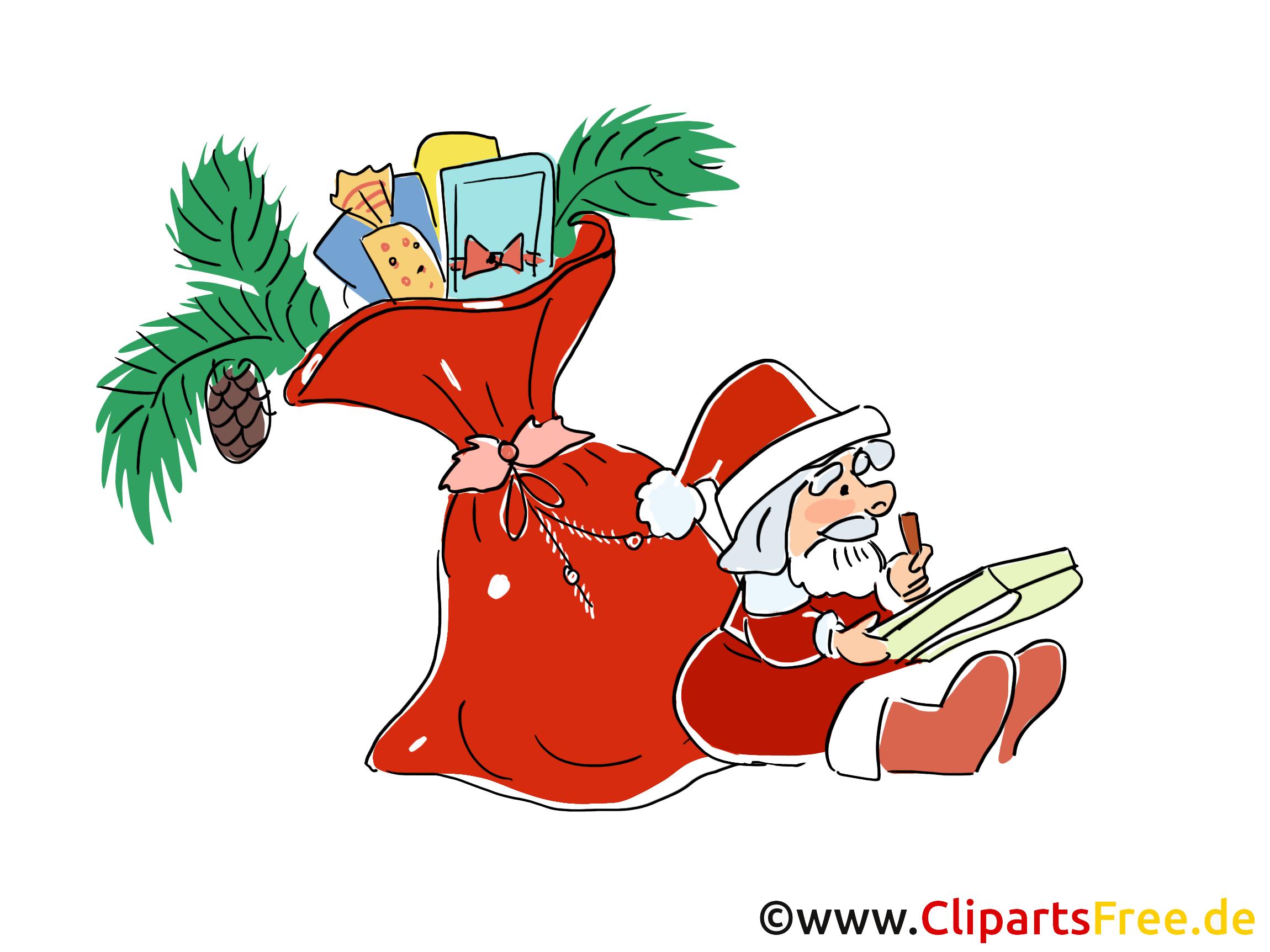 Santa Klaus Bild, Cartoon, Clipart