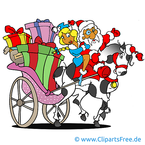 Weihnachtsmann Bild, Cartoon, Clipart, Grafik, Illustration