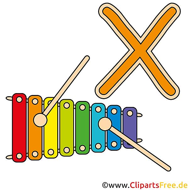 X is for Xylophone - Buchstaben Bilder