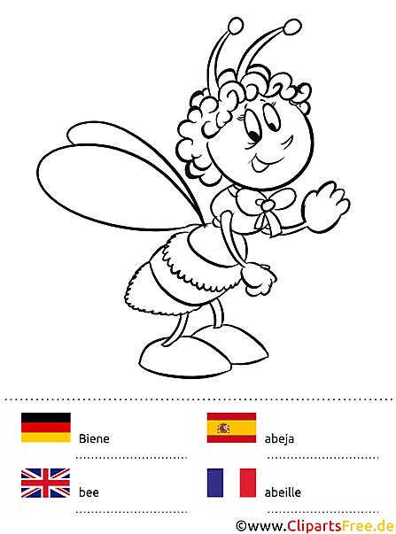 Malen lernen mit vier Sprachen Deutsch-Englisch-Französisch-Spanisch