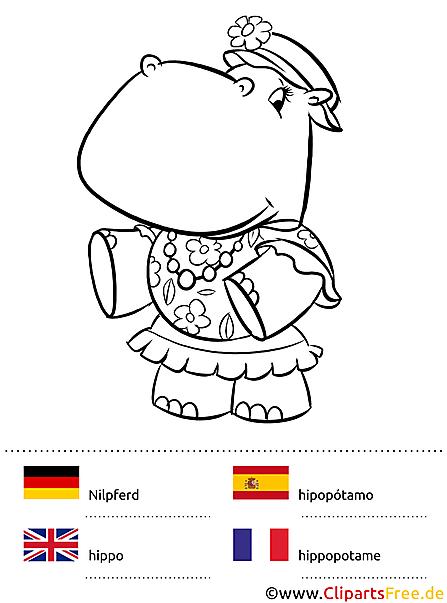 Mein großes Sprachmalbuch - Malen lernen mit vier Sprachen Deutsch-Englisch-Französisch-Spanisch