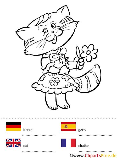 Sprach-Malbuch Tiere - Ausmalen und Fremdsprachen lernen mit Kindern