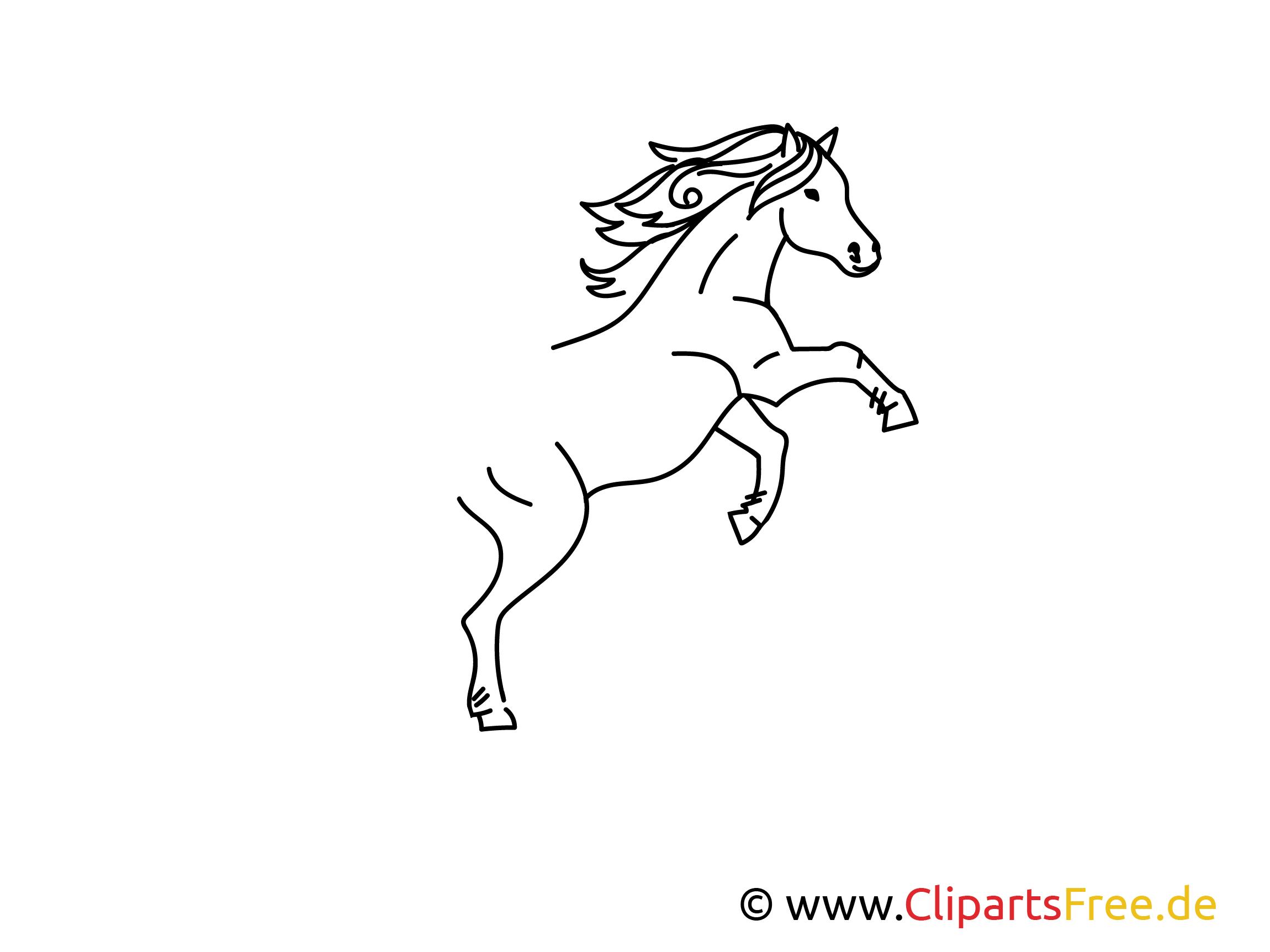 Einfache Weitermal-Vorlage Pferd