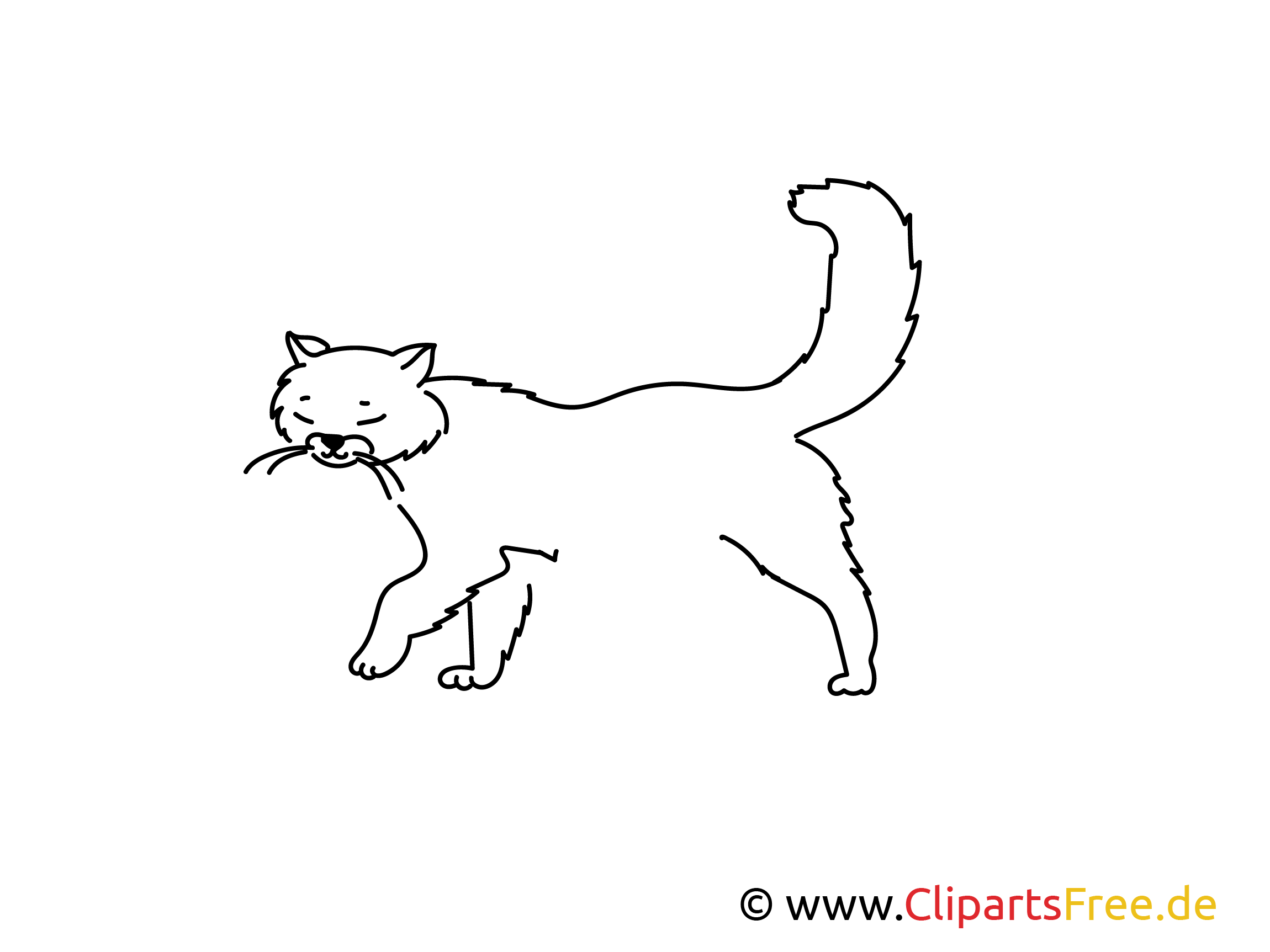 Für Grundschule einfache Weitermal Vorlage Katze
