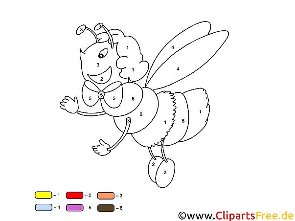 Malen Nach Zahlen günstig, kostenlos online Biene