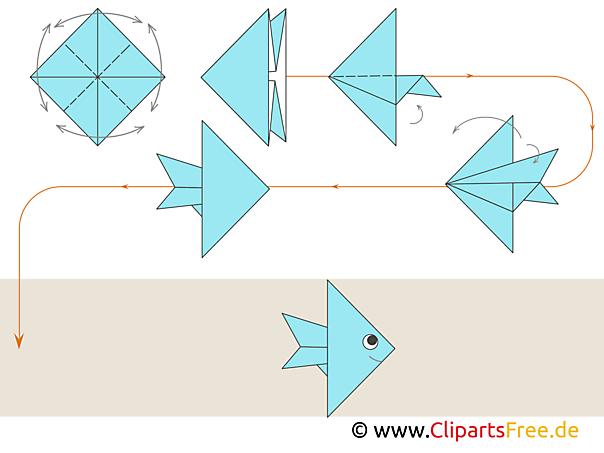 Papierfalten Fisch Anleitung