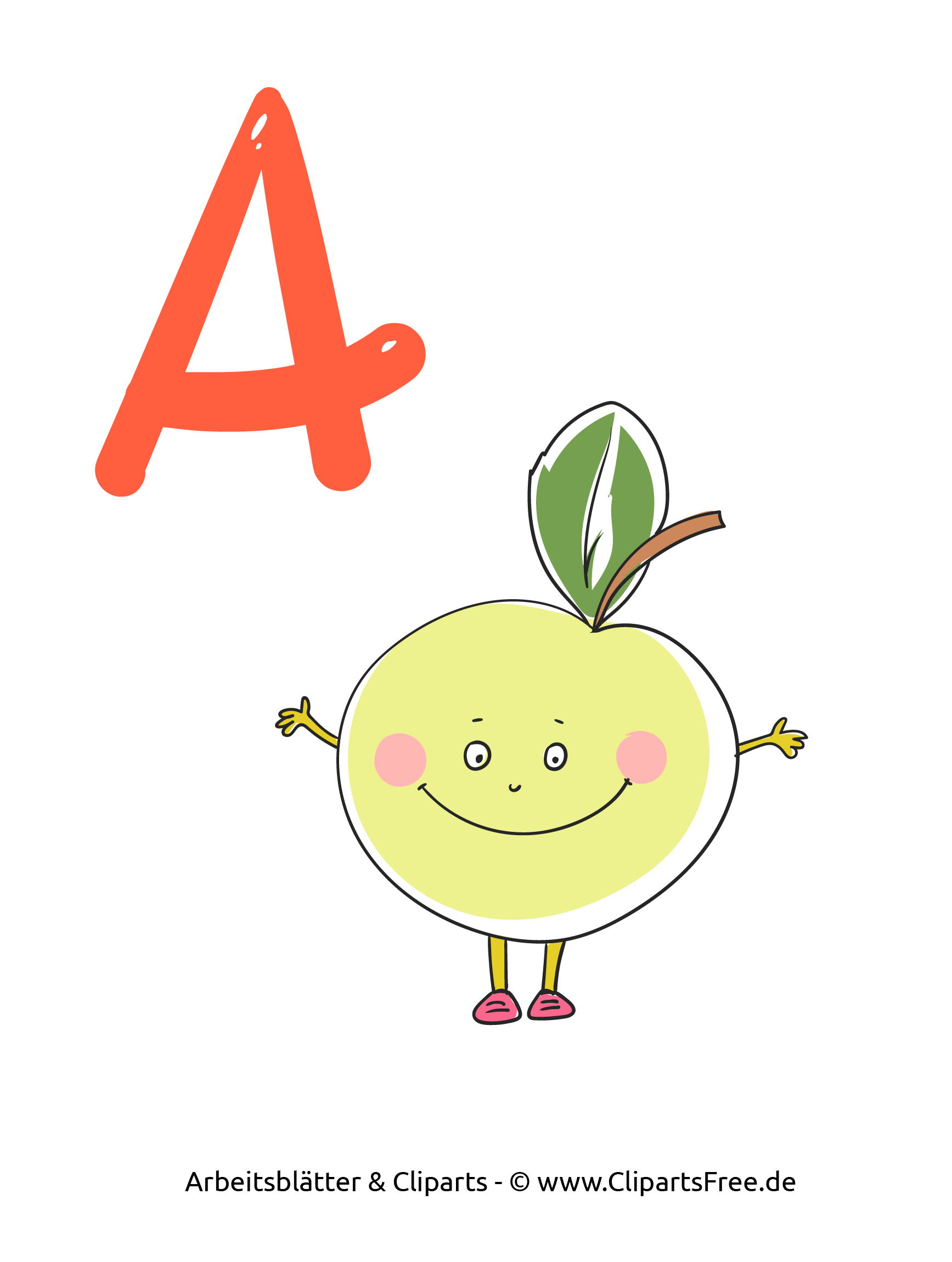 A - Druckbare ABC-Karten