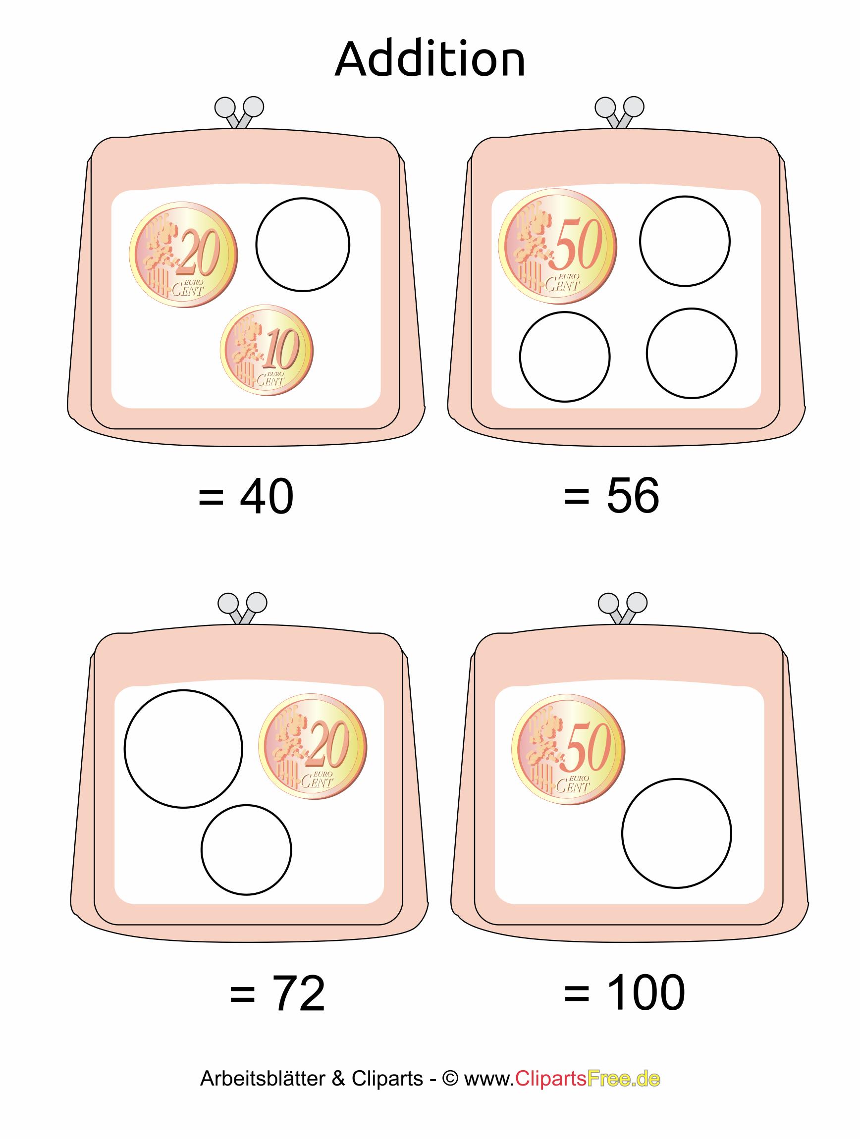Rechnen mit Geld in der Grundschule Vorlagen