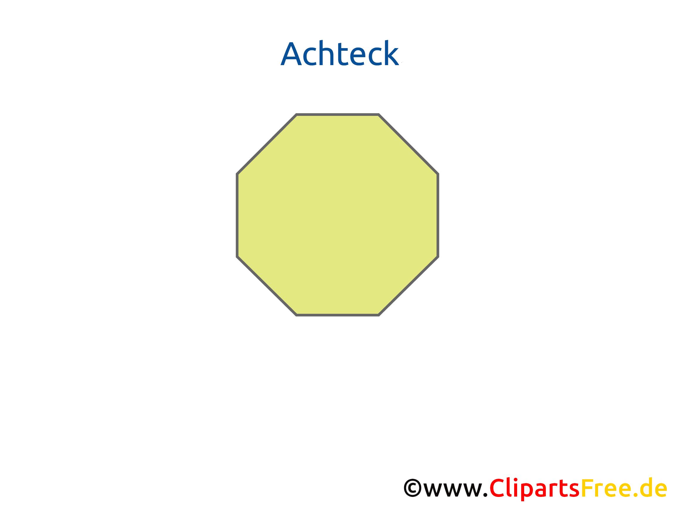 Achteck geometrische Körper Vorlagen