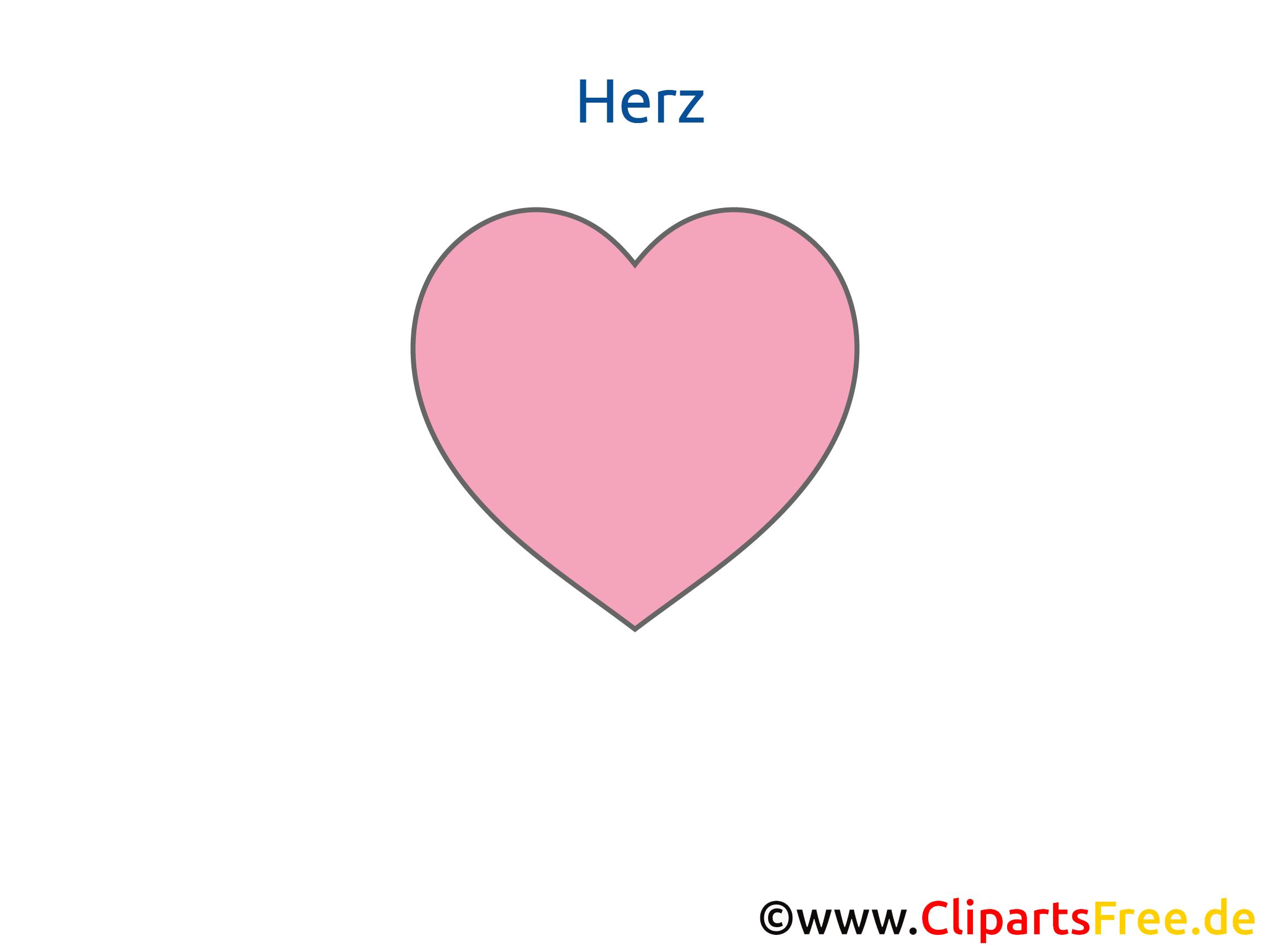 Herz Geometrische Formen Arbeitsblatt für Grundschule