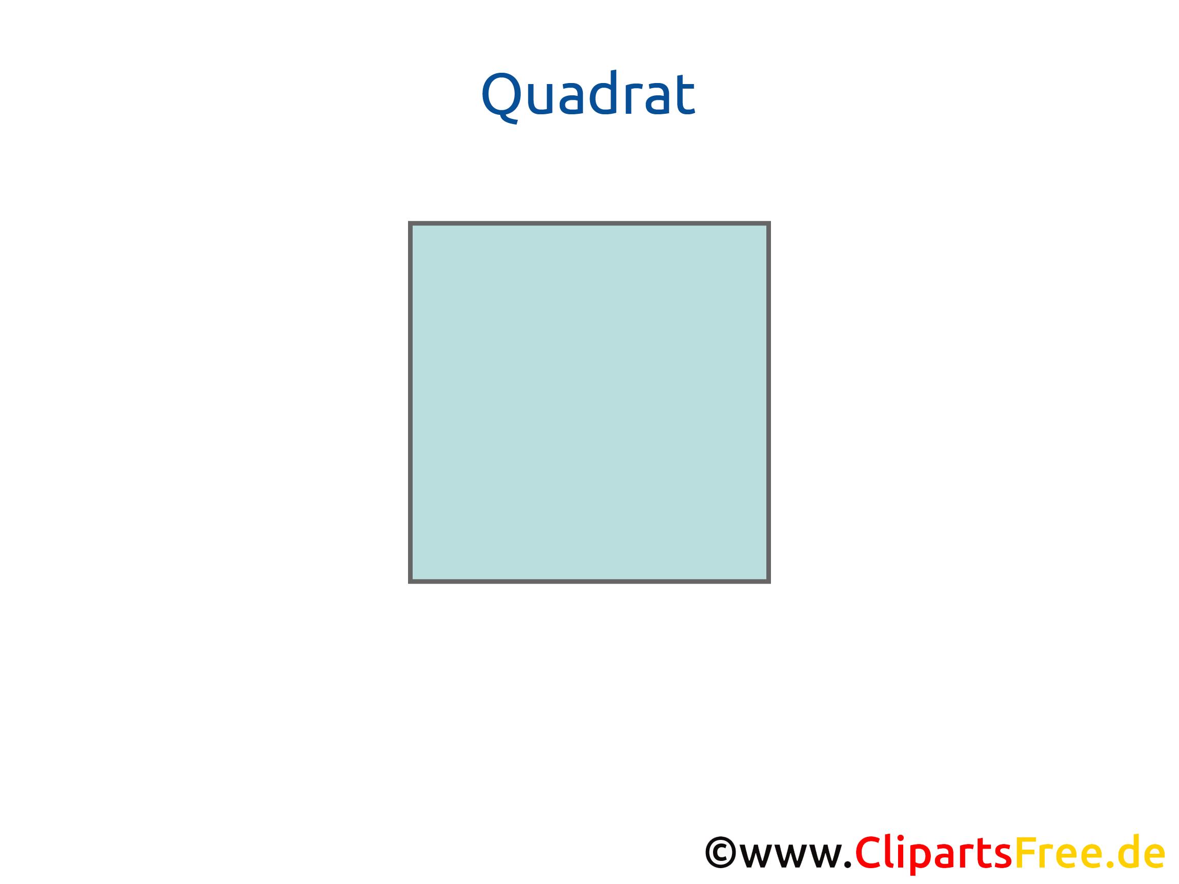 Quadrat Geometrie Unterrichtsmaterialien zum Drucken