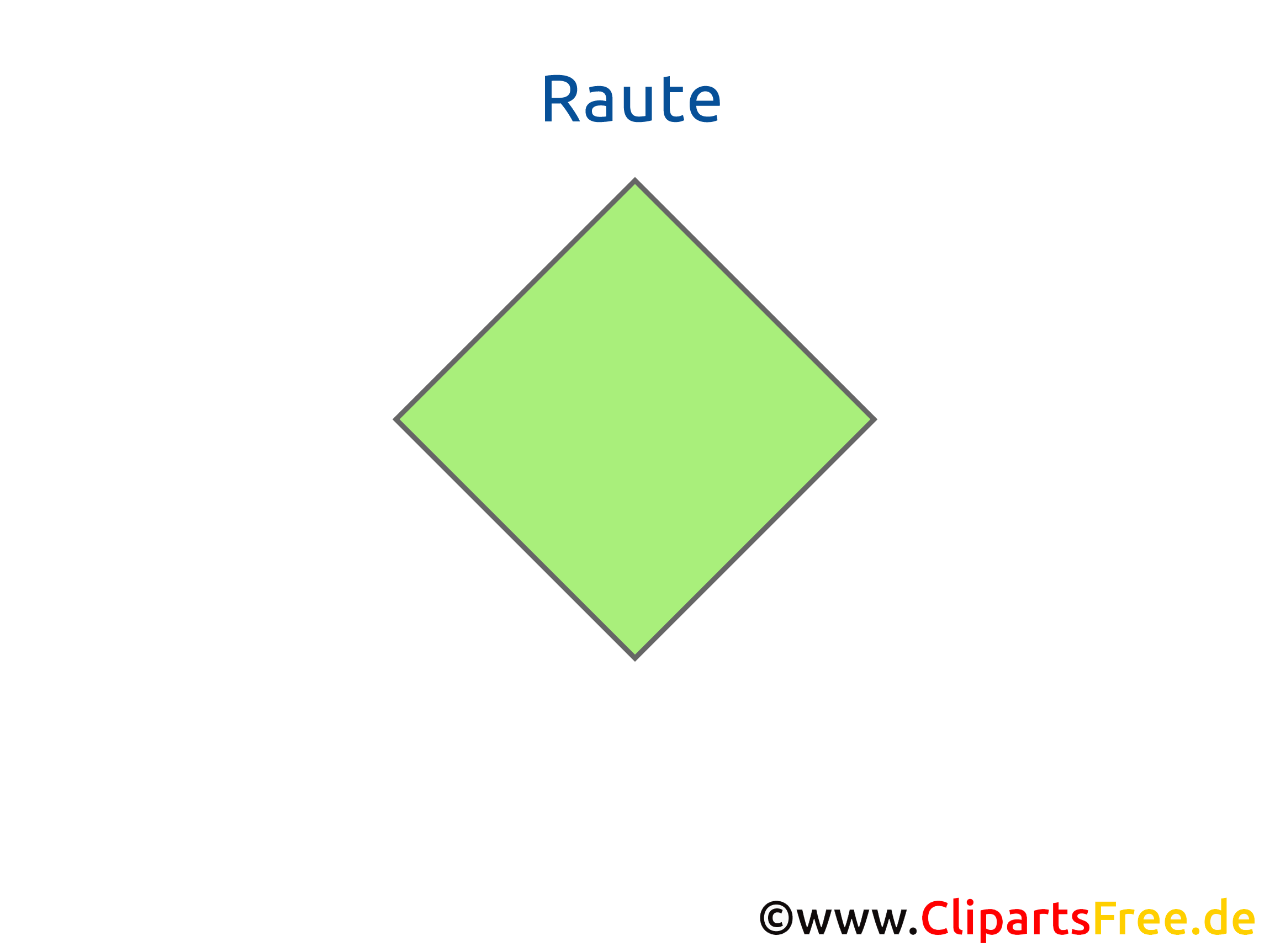 Raute Geometrie - Arbeitsblätter für die Grundschule