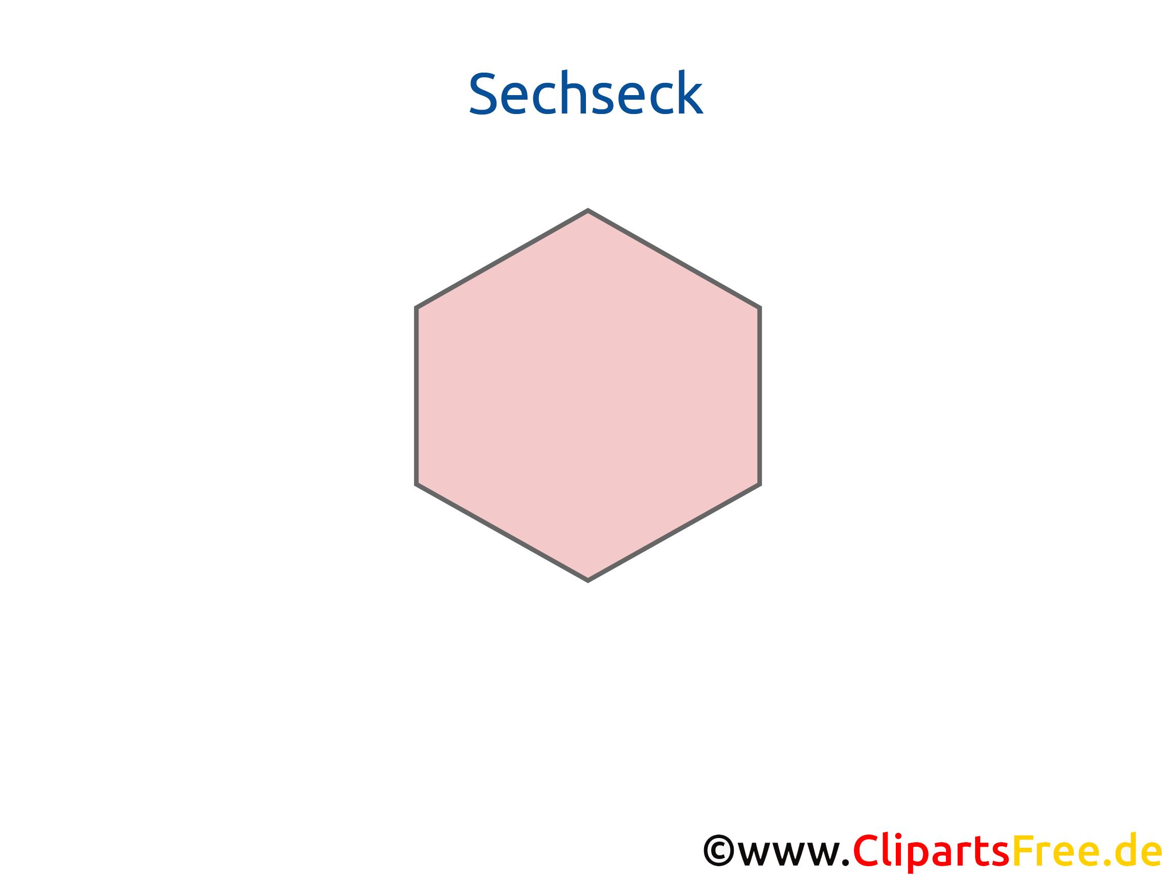 Sechseck Arbeitsblatt für Schule zum Thema Geometrie