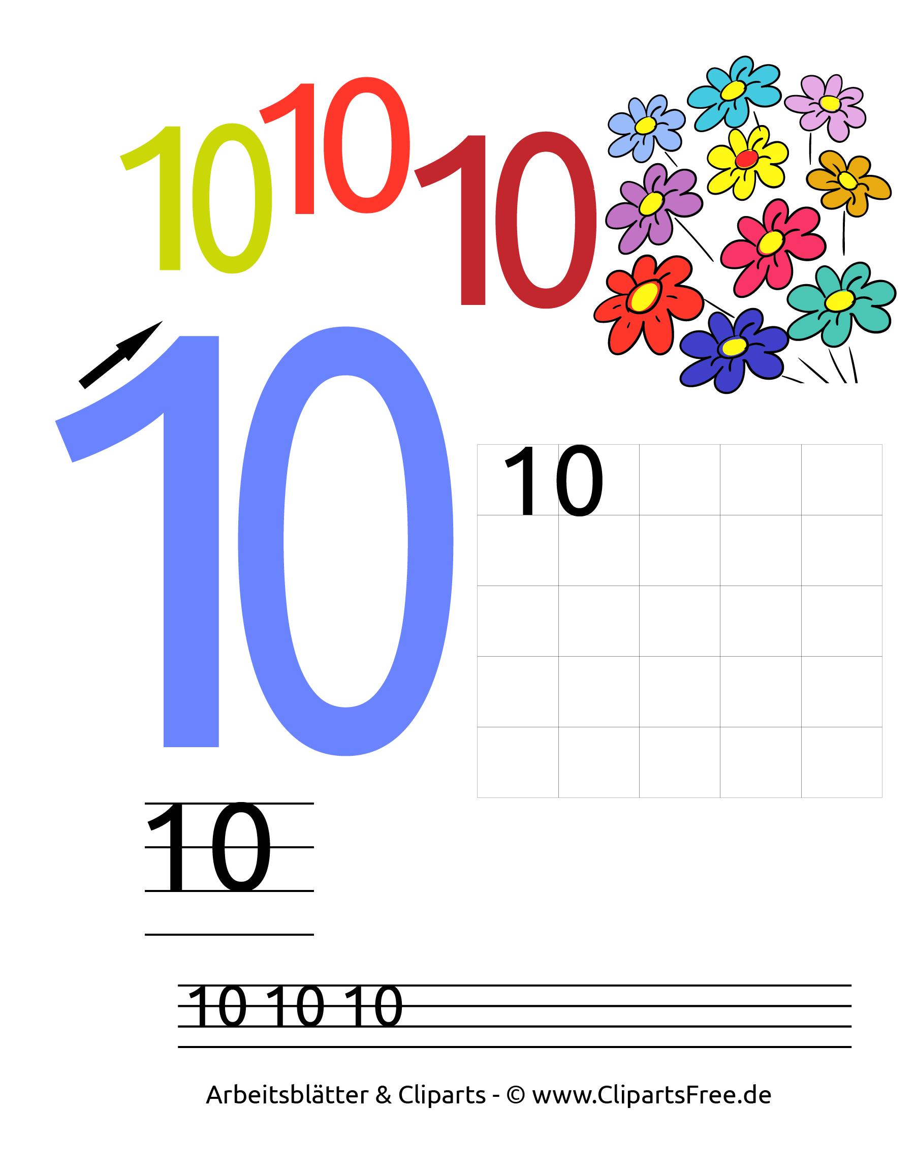 10 - grosse Zahlen ausdrucken