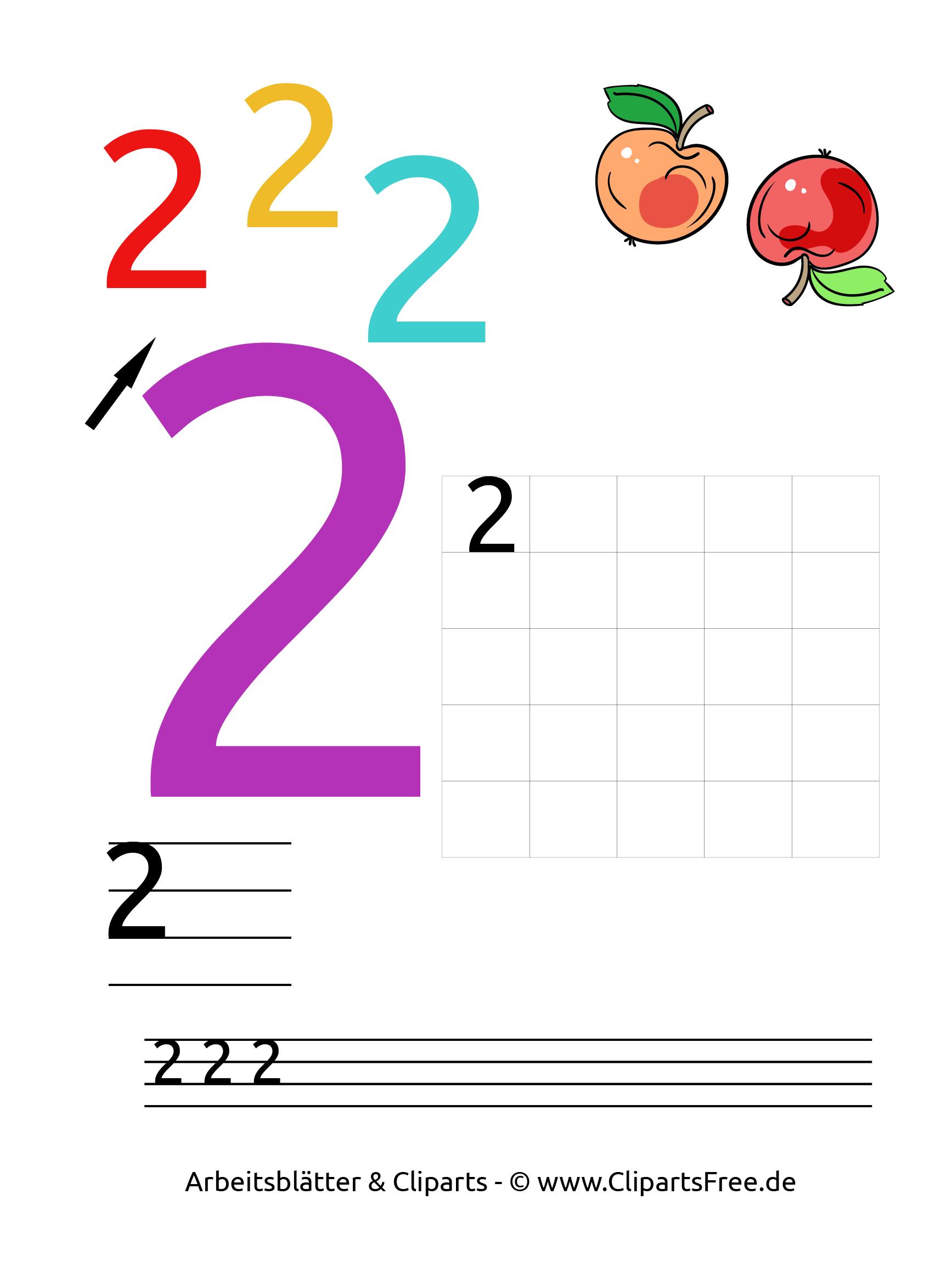 2  kostenlose arbeitsblätter für die vorschule