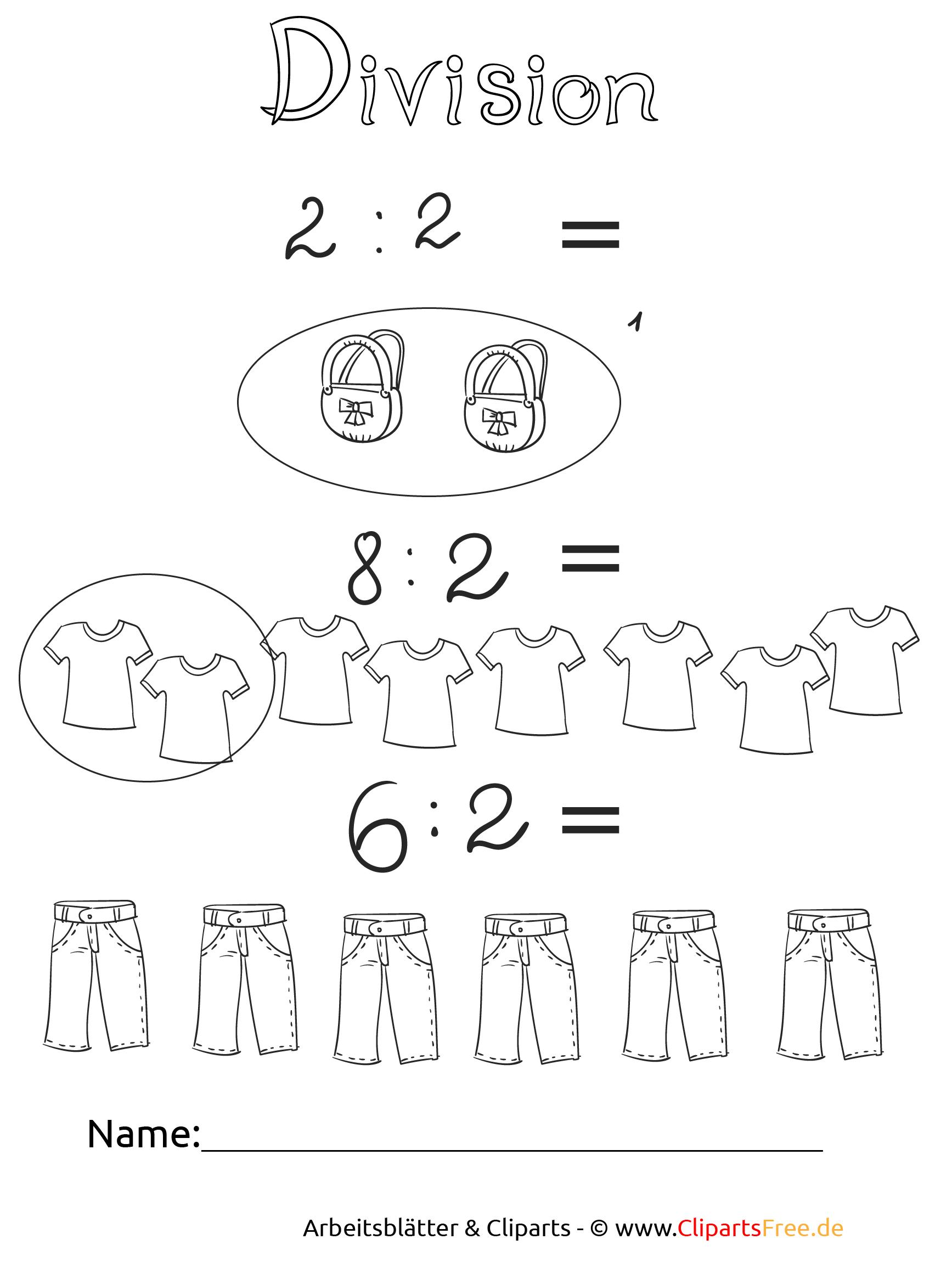 Mathe Unterrichtsmaterial Dividieren zum Drucken