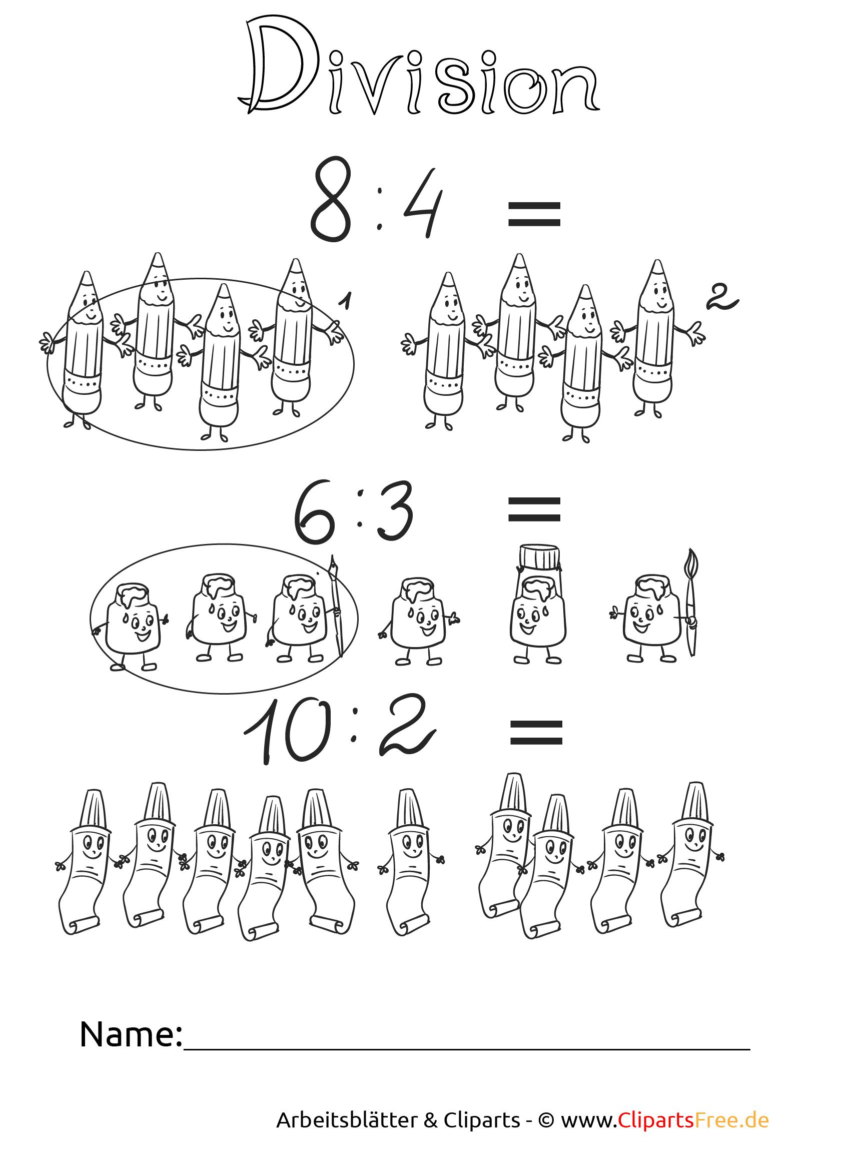 Matheaufgaben Dividieren Vorlagen zum Drucken