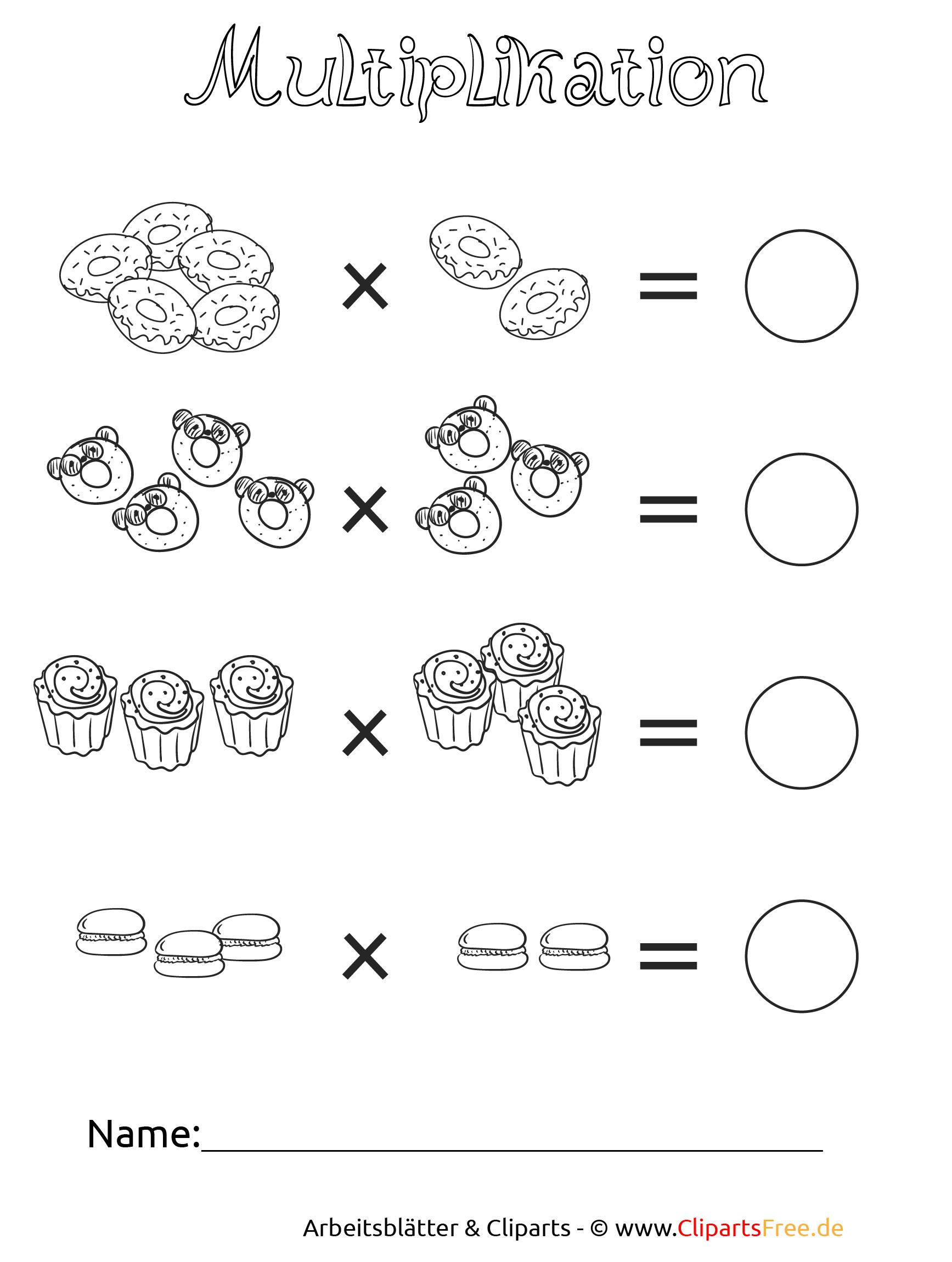Unterrichtmaterial Multiplikation zum Download