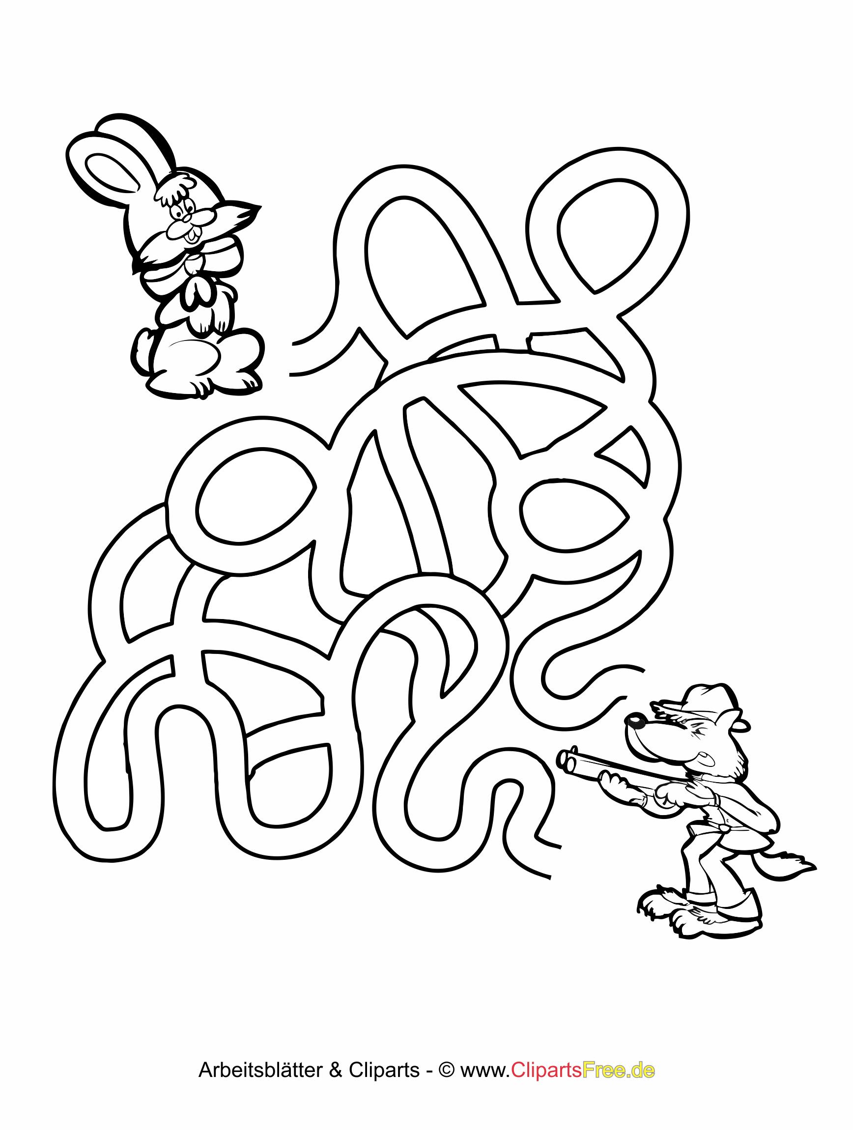 Einfaches Labyrinth zum Ausdrucken