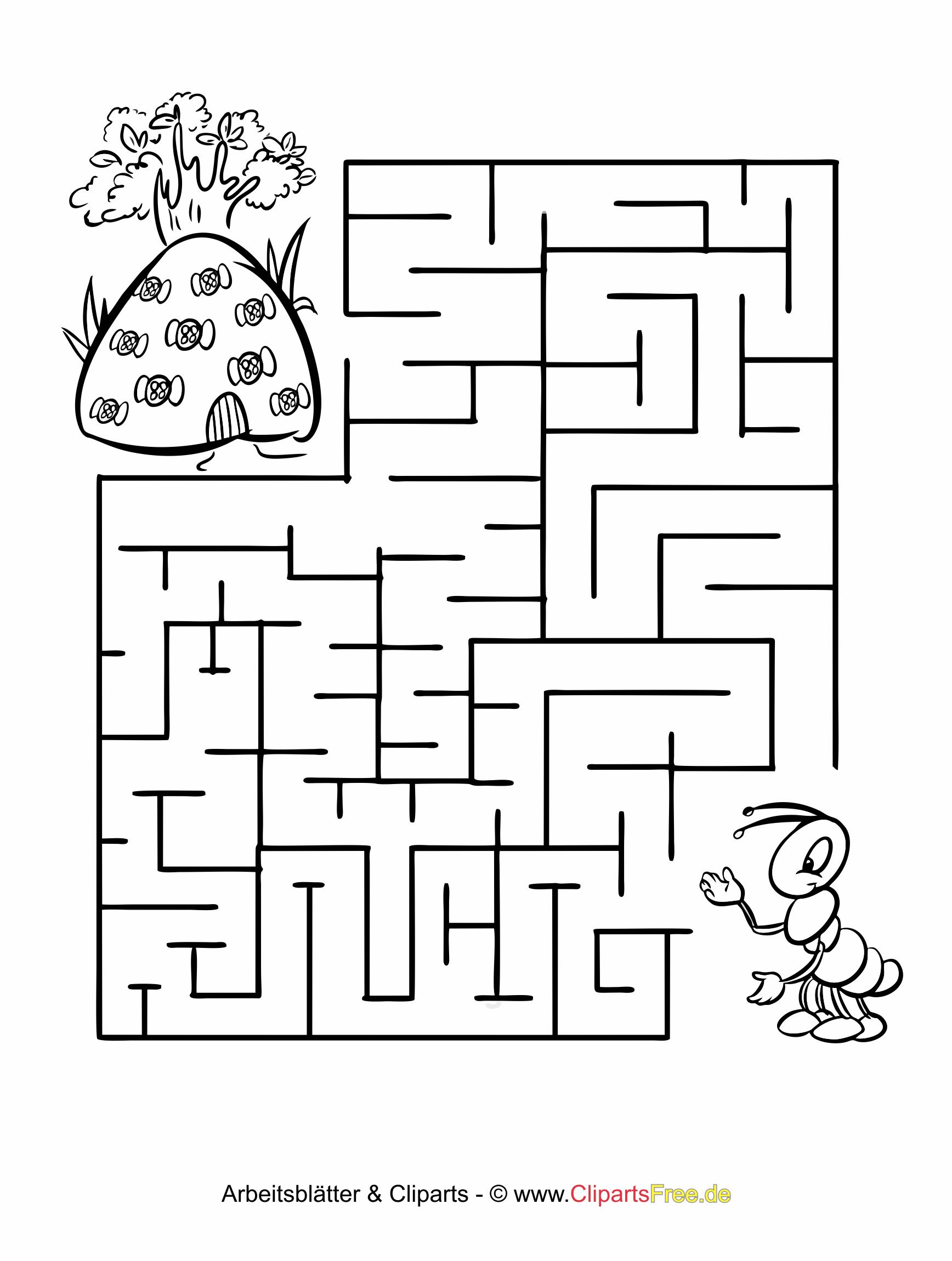 Kostenlos Labyrinth Rätsel für Kinder