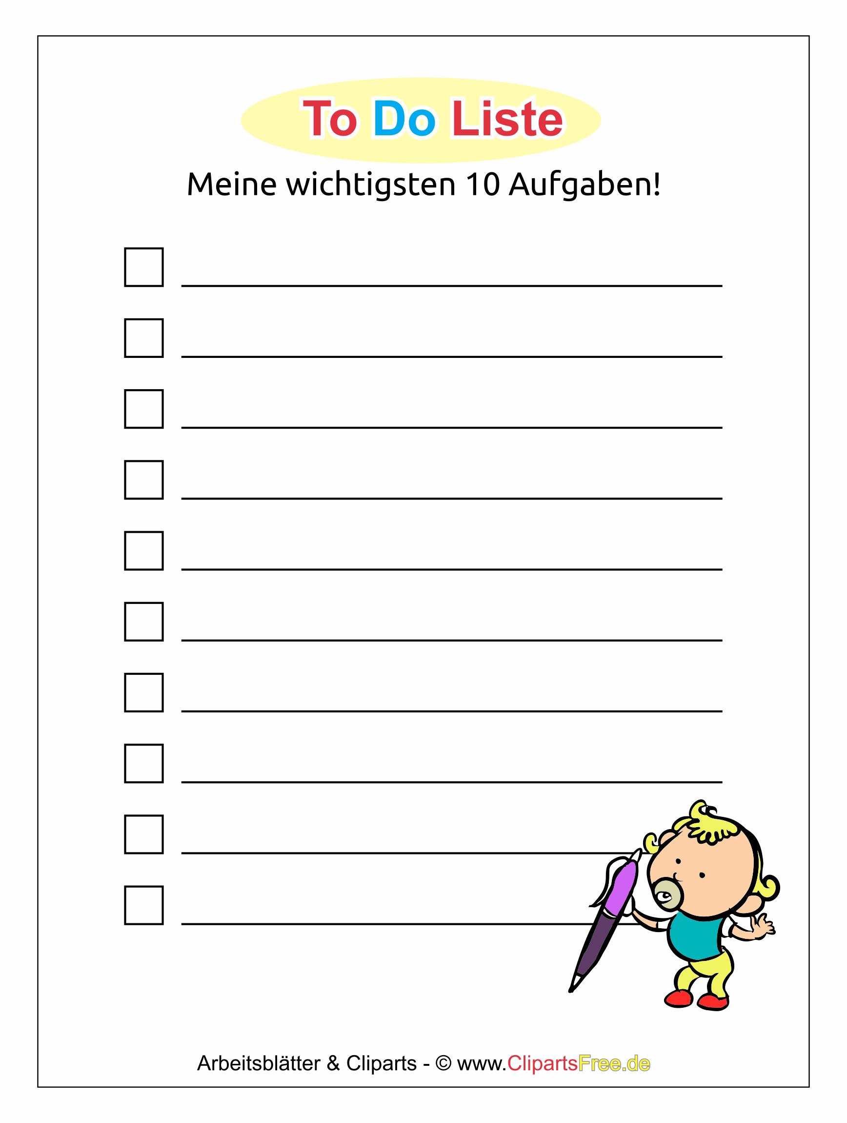 To Do List Template PDF