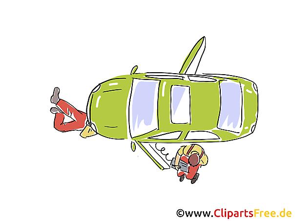 Auto Bovenaanzicht Clipart, Afbeelding, Grafisch, Cartoon, Illustratie gratis