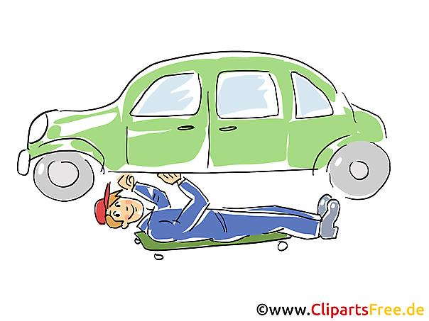 Auto zelfreparatie clipart, afbeelding, grafisch, tekenfilm, gratis illustratie