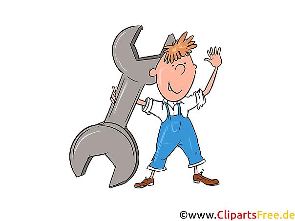 Car Mechanic Image, Illustratie, Clipart, Cartoon Gratis