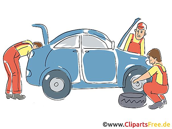 Autoservice, Inspectie Clipart, Afbeelding, Grafisch, Cartoon, Illustratie gratis
