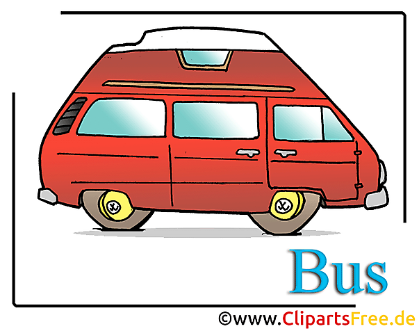 Bus cartoon clipart gratis