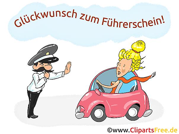 Bildtitel: Führerschein Gratulation lustig