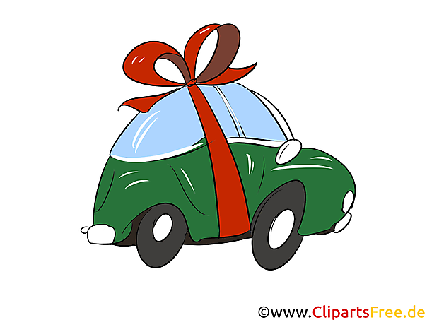 Cadeauto Clipart, Afbeelding, Grafisch, Illustratie