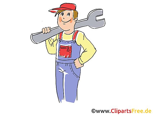 Car Master Clipart, Afbeelding, Grafisch, Cartoon, Illustratie gratis