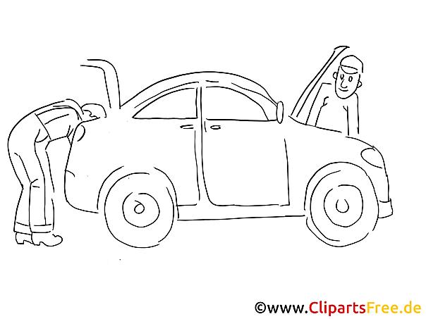 Reparatie carrosserie voor voertuigen clip art zwart en wit, grafisch, foto)