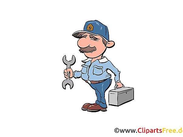 Workshop meesterbeeld, illustratie, clipart, cartoon gratis