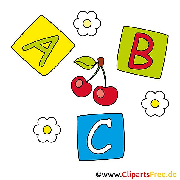 Bildtitel: Buchstaben-Kloetzchen Babyspielzeug Bilder