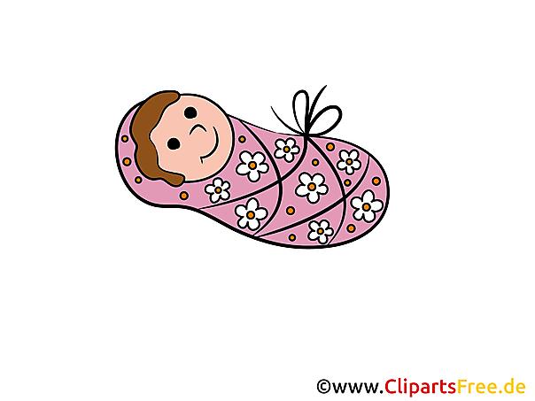 Clipart babymeisje gratis