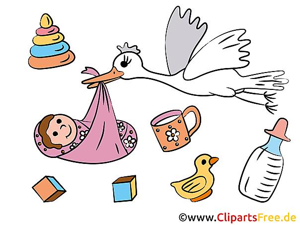 Maak zelf een geboorteaankondiging met onze clipart