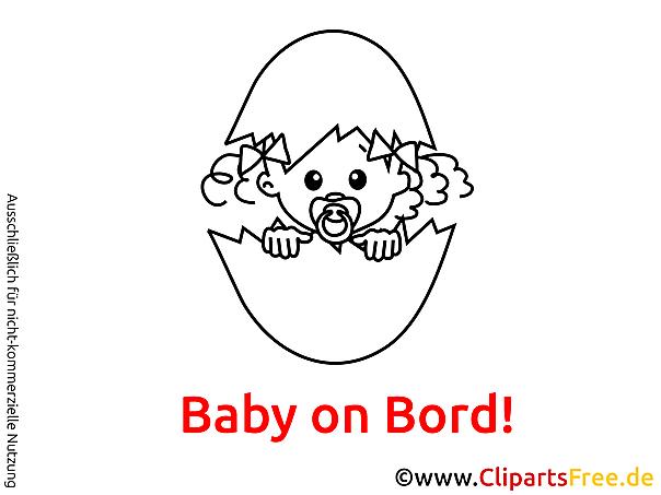 Baby Clipart Schwarz Weiss