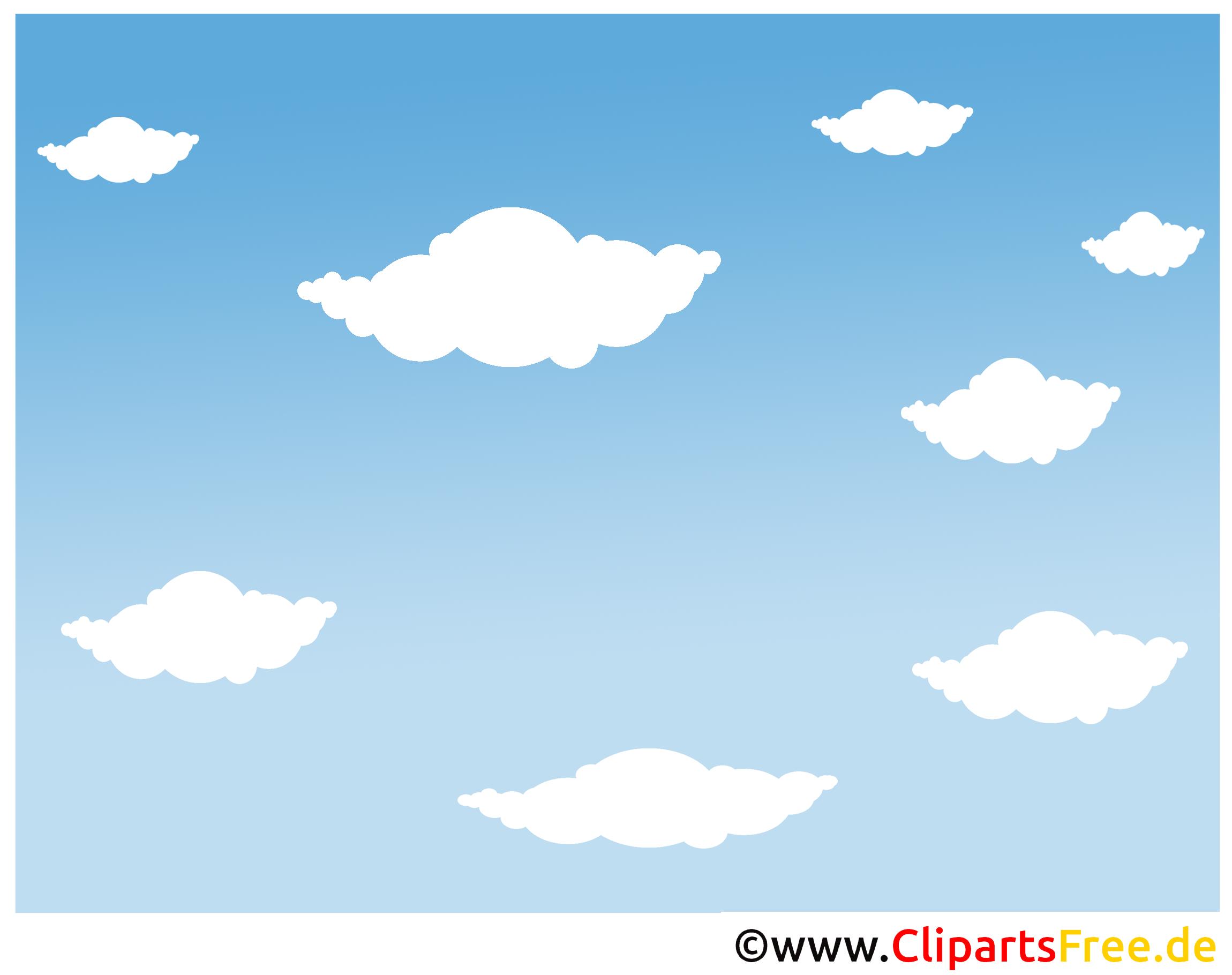 Website Hintergrund Wolken, blauer Himmel