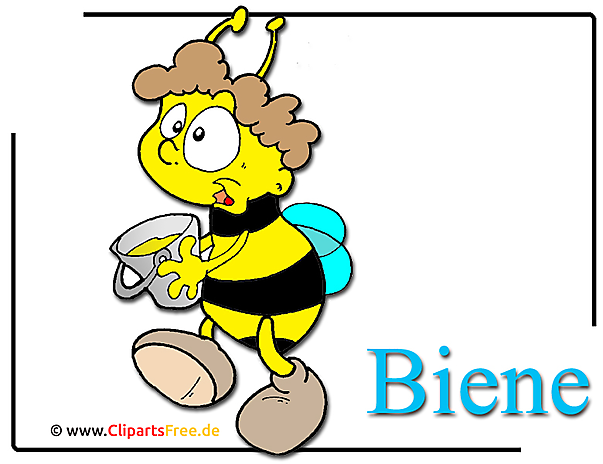 Cartoon Biene Clipart free