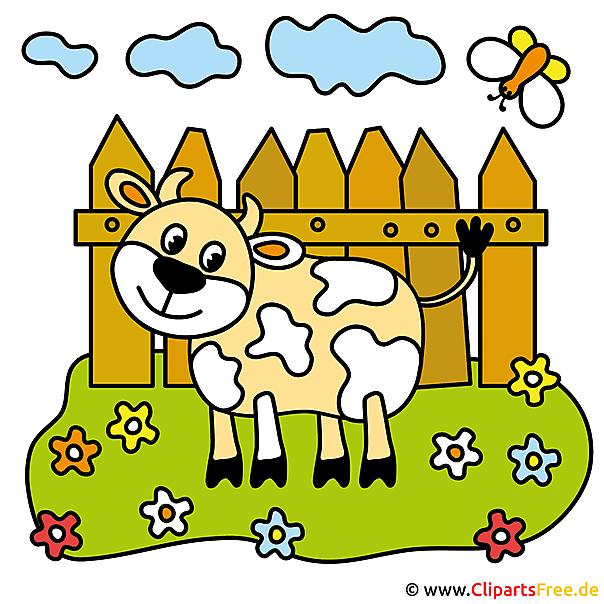 漫画牛 - 農場からの写真