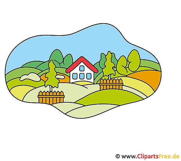 Dorf Bild Clipart kostenlos