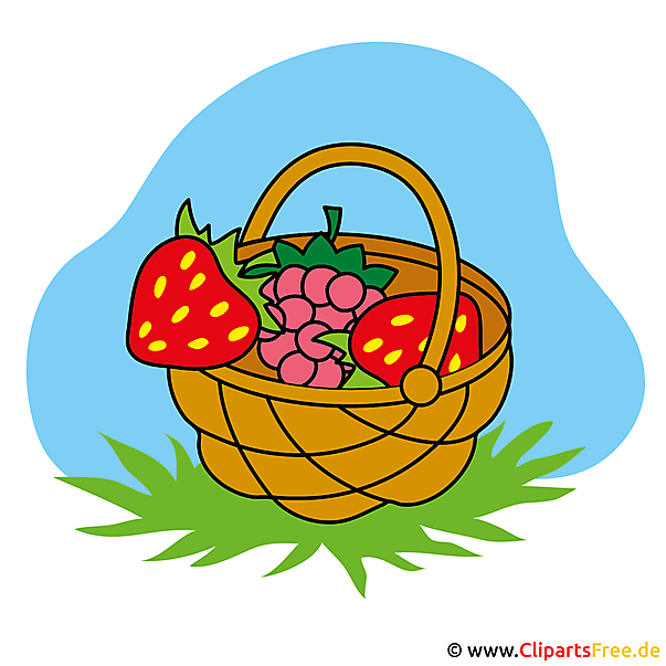 Erdbeeren Bild Clipart gratis