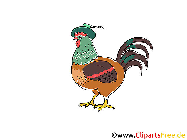 Huhn Clipart, Bild, Cartoon gratis