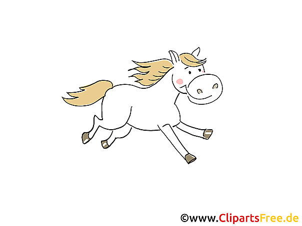 Laufendes Pferd Bild, Clipart, Cartoon