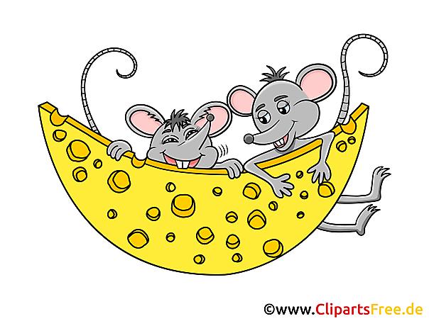 Käse clipart schwarz weiß  Mäuse mit Käse Clipart, Grafik, Illustration, Bild gratis